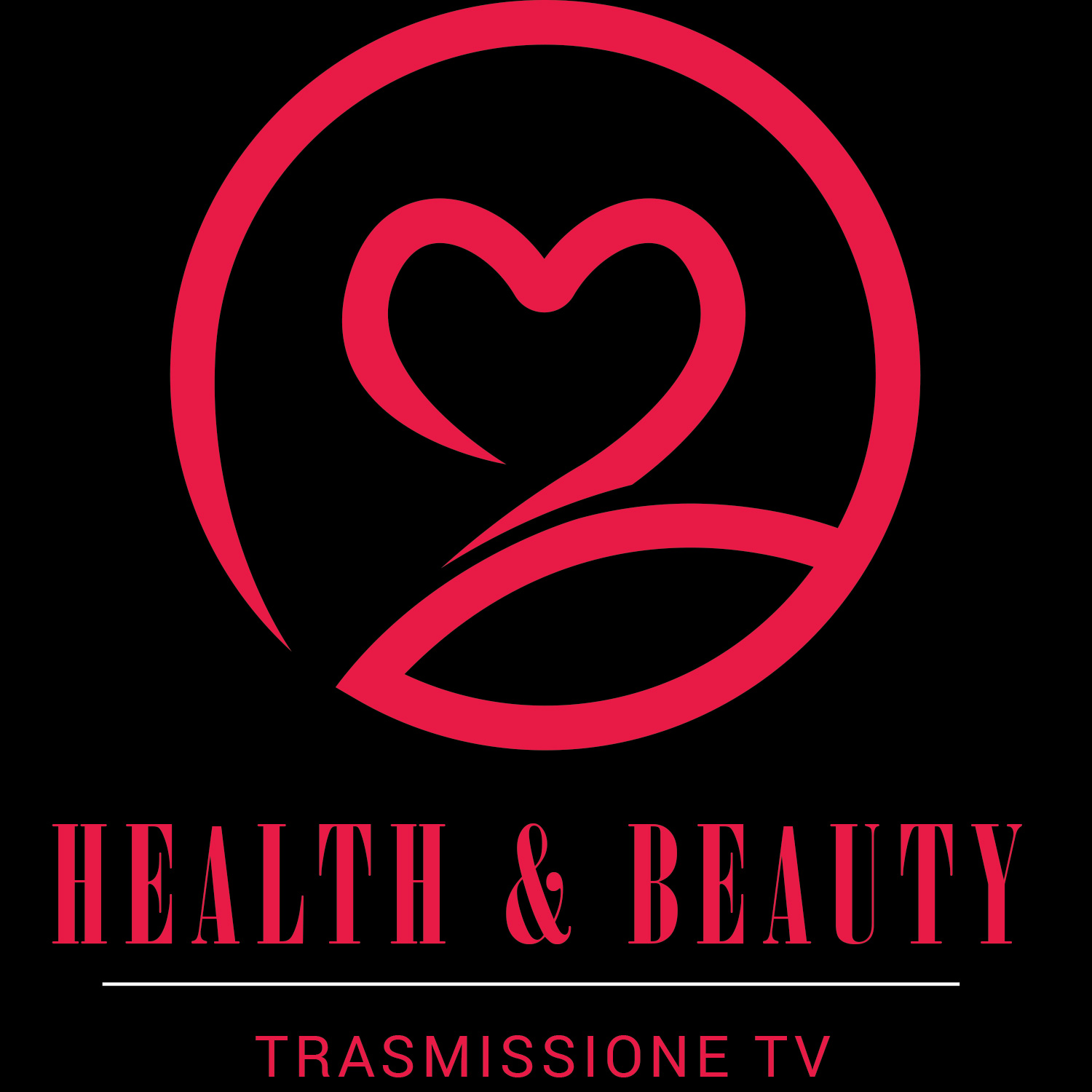 HEALTH BEAUTY black background fucsia