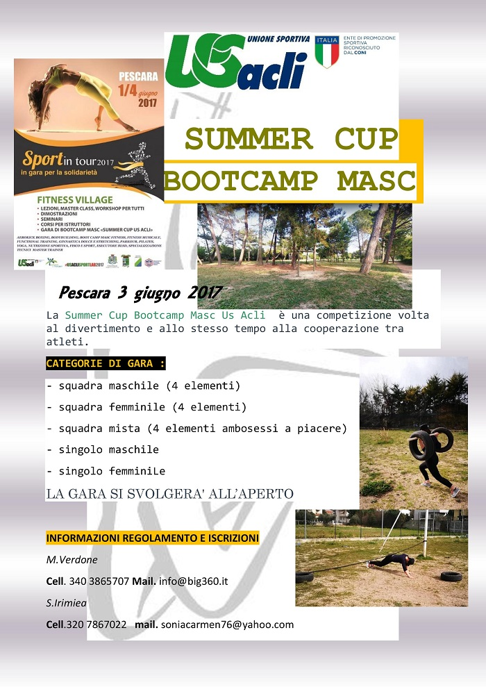 Fitness factory arriva il fitness village us acli for Magri arreda pescara