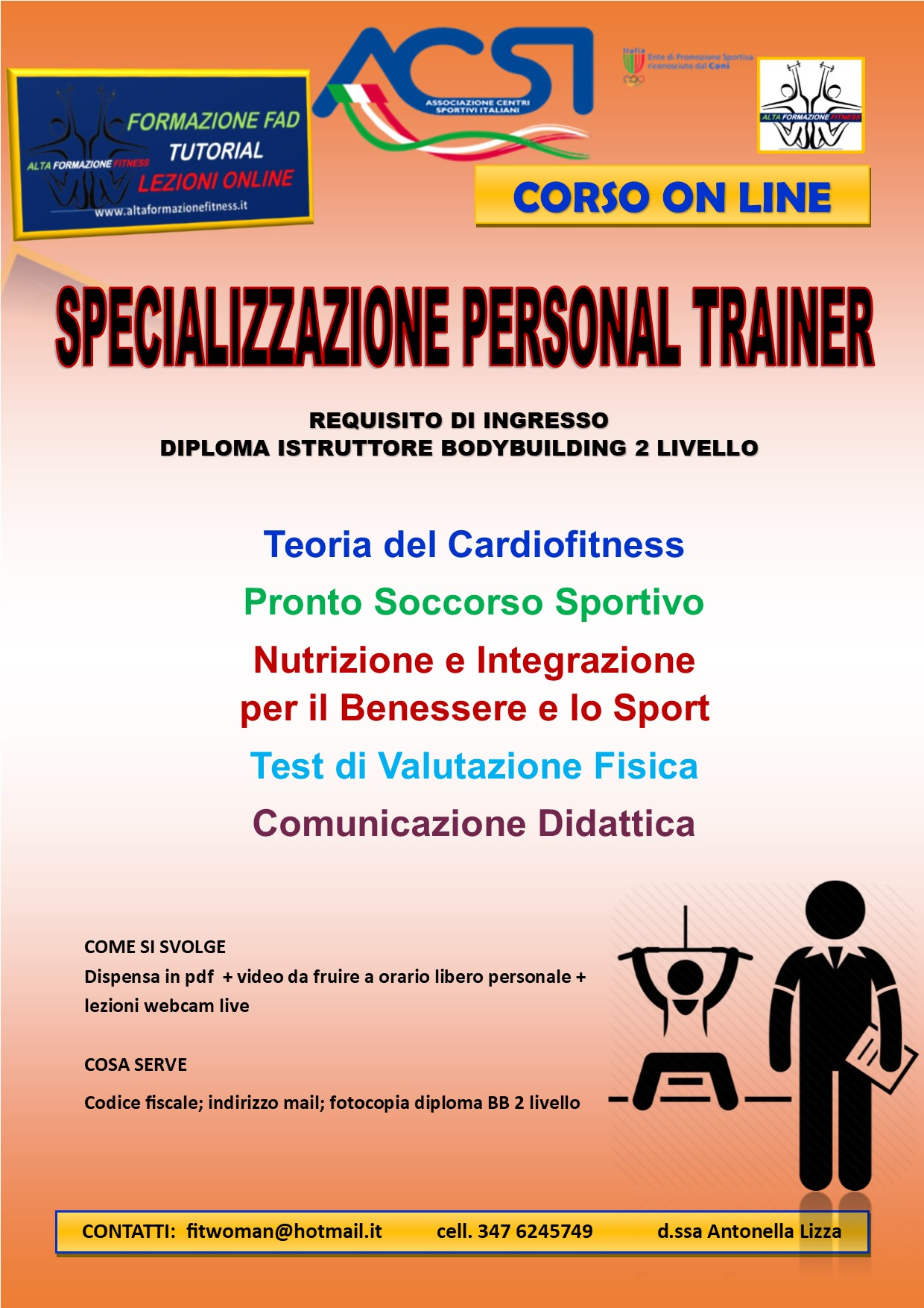 master on line personal trainer